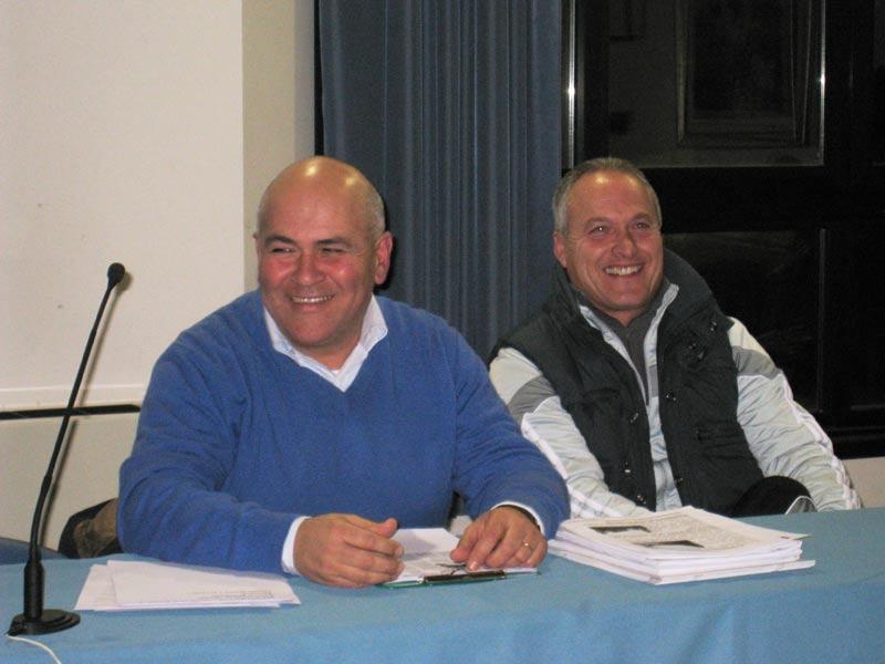 Mauro Paci e Romano Antonini, del gruppo di opposizione del Pd