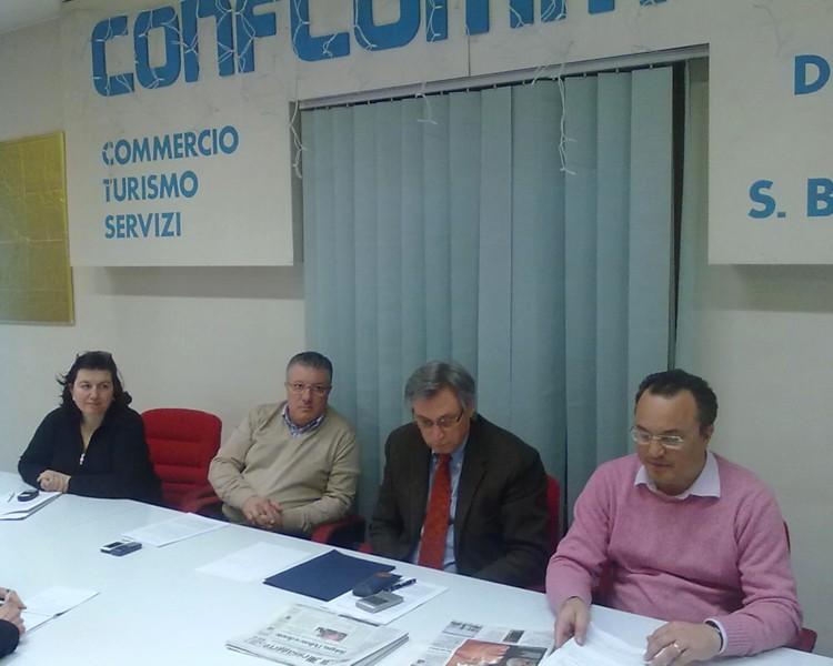 Angelotti, Chiodi, Perazzoli e Calabresi nella sede di Confcommercio