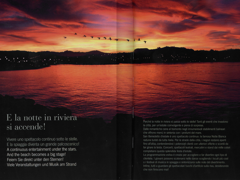Una suggestiva immagine dal nuovo catalogo dell'Assoalbergatori Riviera delle Palme