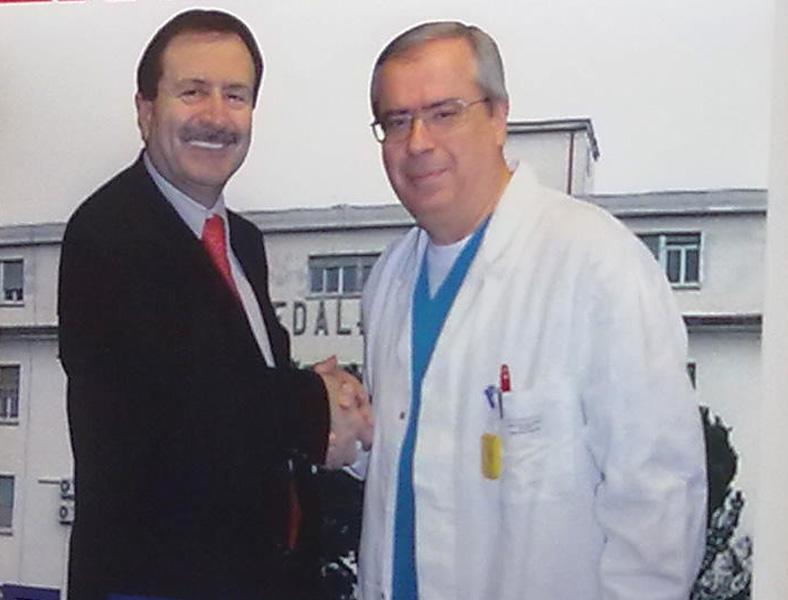 Mario Narcisi, a destra, con Leo Sestri in un
