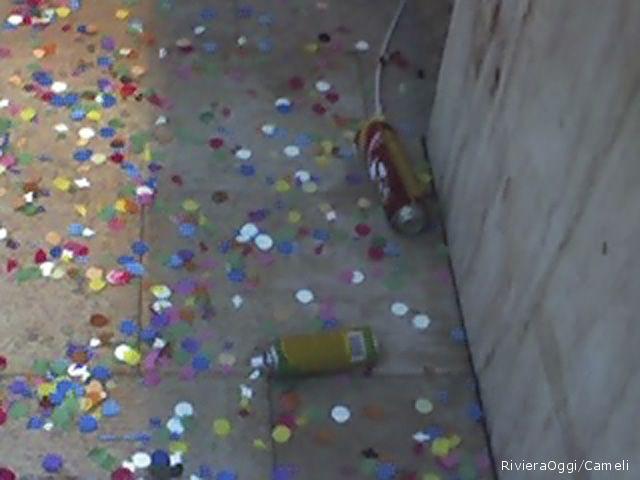Bombolette spray nonostante l'ordinanza