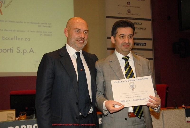 La Sagi Spa riceve il premio nel cmapo del'innovazione tecnologica