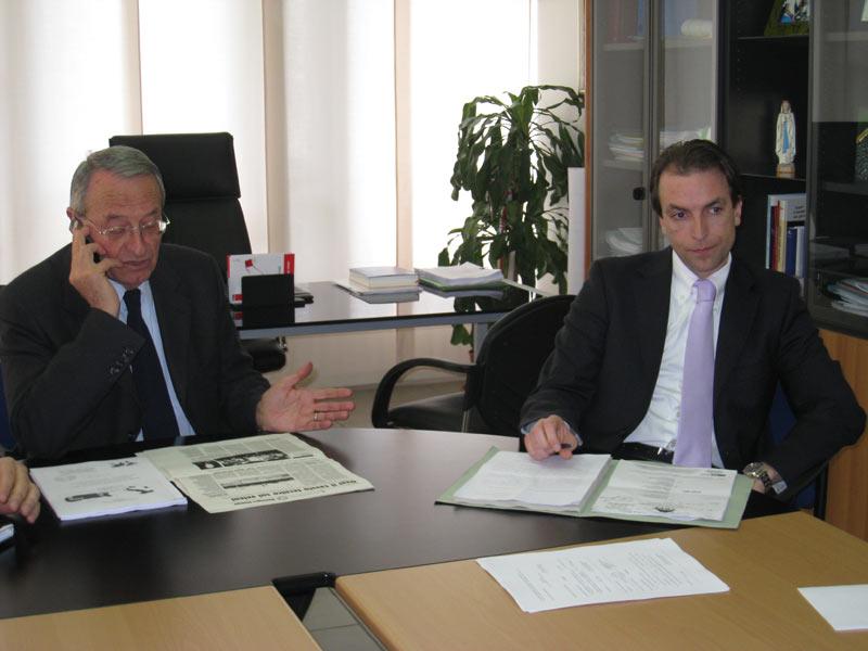Il sindaco Di Salvatore e il consigliere delegato all'Ambiente Massimo Vagnoni