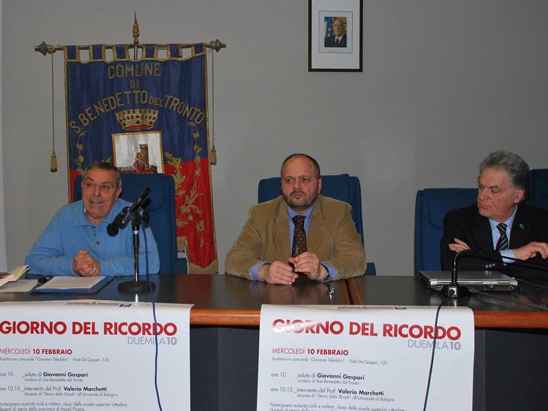 Valerio Marchetti, Giovanni Gaspari e Piero Celani