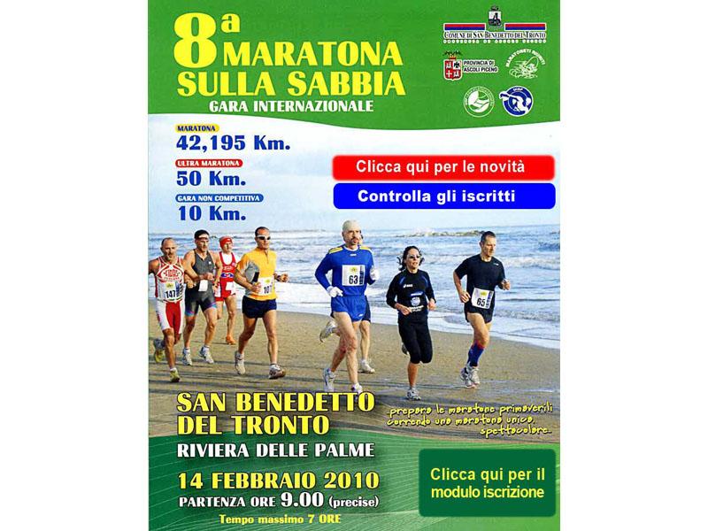 Domenica 14 febbraio Maratona sulla Sabbia