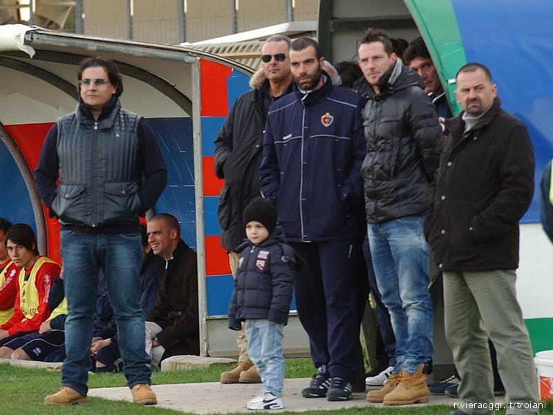 Sergio Spina, sulla sinistra, si gode la sua Samb. Vicino a lui anche gli infortunati Cacciatore e Giandomenico