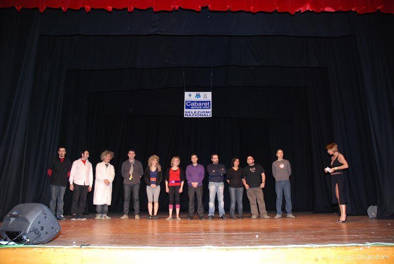 Tutti sul palco per la finale