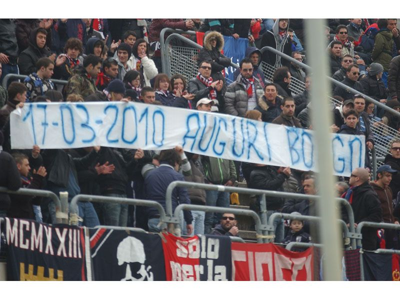 I tifosi della Samb sempre con Borgonovo nel cuore: il messaggio di auguri durante la partita contro la Vis Macerata