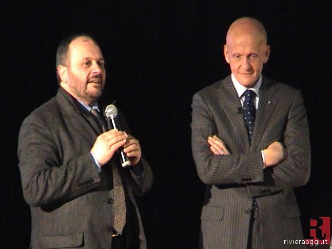 Il sindaco Gaspari con il designatore degli arbitri Pierluigi Collina