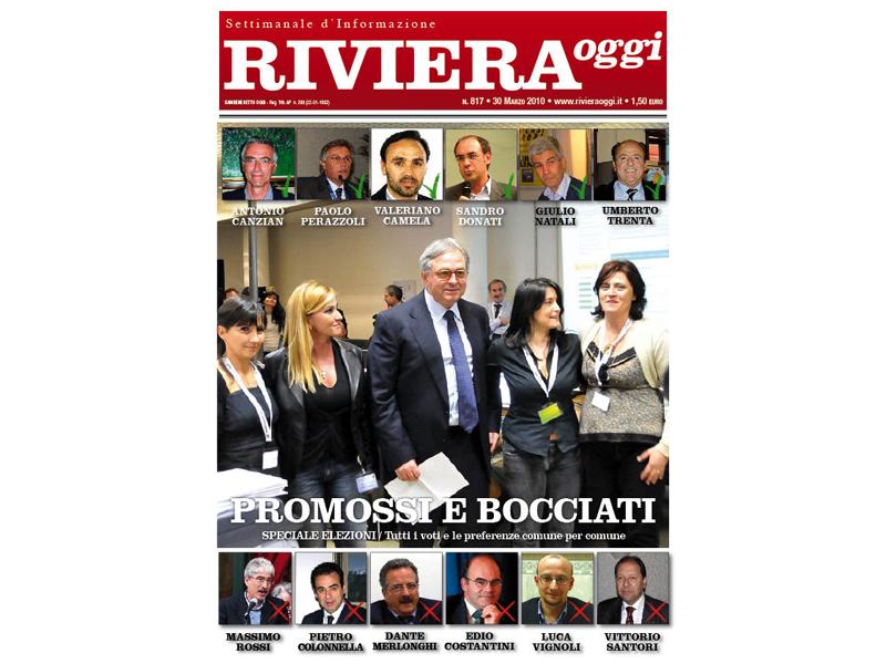 La copertina di Riviera Oggi numero 817 sullo