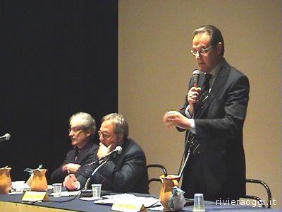 Da sinistra: Massimo Rossi, Gian Mario Spacca ed Erminio Marinelli
