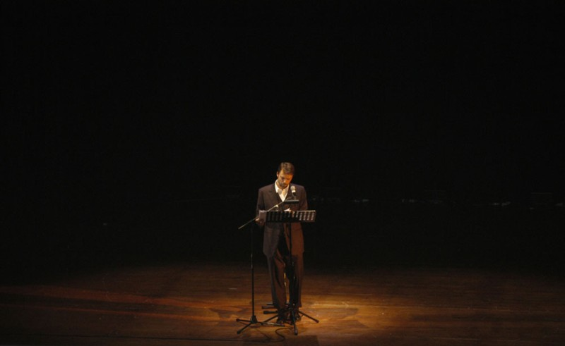 Alessandro Preziosi durante lo spettacolo