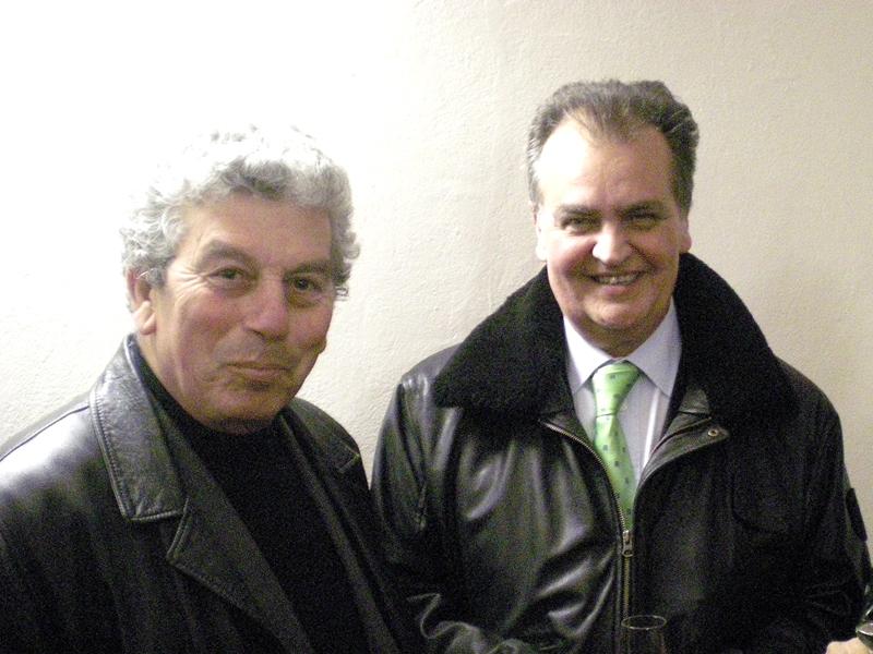 Giuseppe Ricci dell'Itb con Roberto Calderoli della Lega Nord