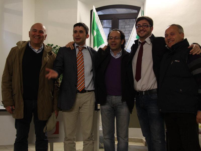 Mauro Paci, Silvio Paolucci, Giuseppe Di Luca, Giuseppe Capriotti e Romano Antonini