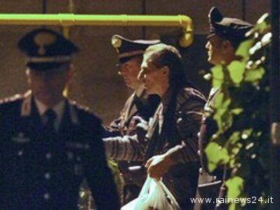 Romano Bisceglia durante l'arresto