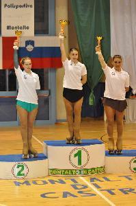 Francesca Censori esulta sul secondo gradino del podio