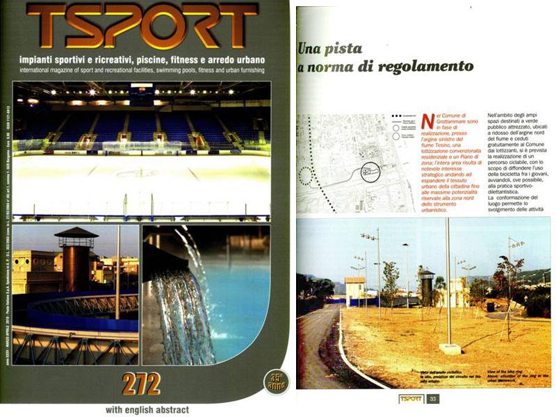 La copertina del periodico con una pagina interna