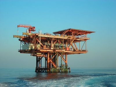 Una piattaforma per l'estrazione del petrolio
