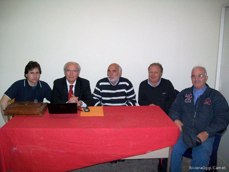 Da sinistra Vittorio Scartozzi, Antonio e Giovanni Bruni, Luigi Santori, Daniele Vilone