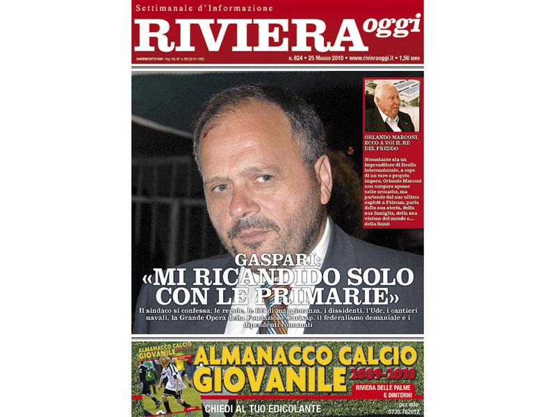 La copertina di Riviera Oggi numero 824