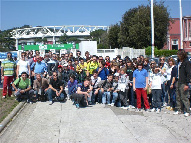 Il gruppo sambenedettese a Roma