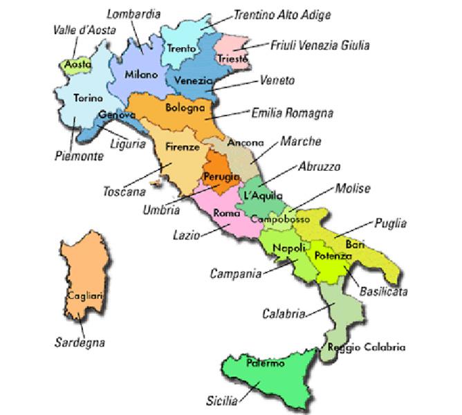 Riviera oggi l italia sar pubblicizzata con i percorsi - Regioni italiane non bagnate dal mare ...