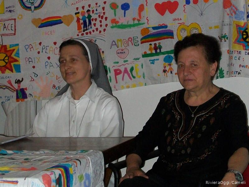 Suor Carla Sirch e Gabriella Ciarrocchi
