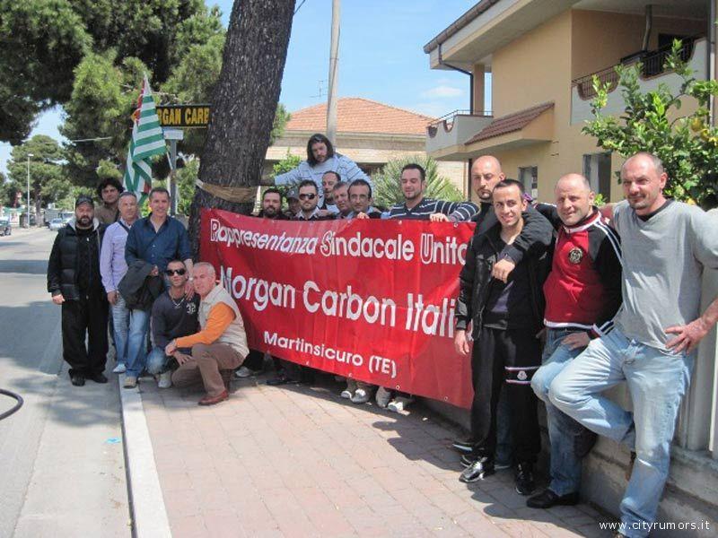 I dipendenti della Morgan Carbon