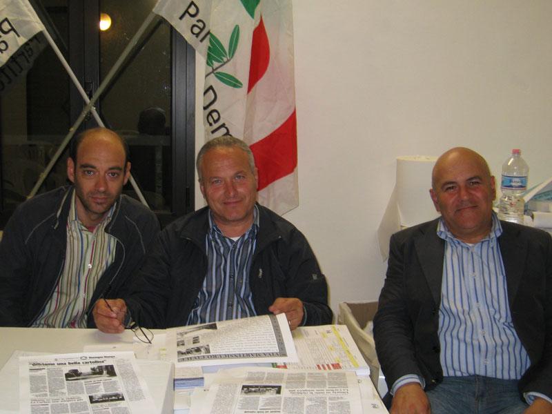 Mario Corsi della Segreteria Pd, con i consiglieri Romano Antonini e Mauro Paci