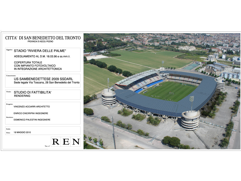 Ecco come sarà lo stadio Riviera delle Palme