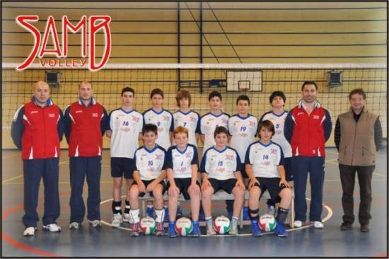 La formazione dell'Under 13 della Samb Volley