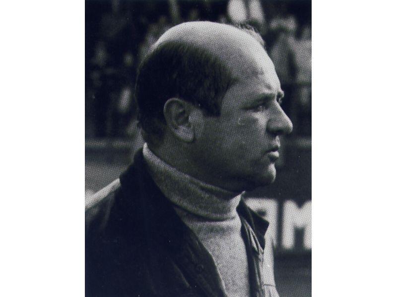 Lauro Toneatto ai tempi in cui allenava la Samb, nel 1977-78