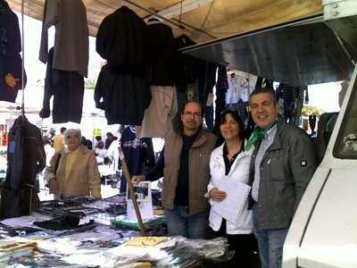 Simona Tavoletti, della Lega Nord Abruzzo, tra gli ambulanti
