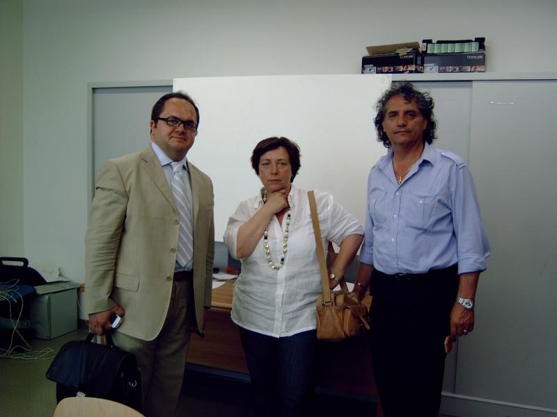 Achille Castelli,sindaco di Montefiore;Tiziana Pallottini,sindaco di Carassai; Marino Mecozzi, sindaco di Massignano