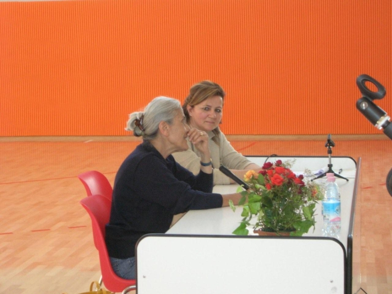 Ester Obbiassi Panagia all'incontro con l'autore