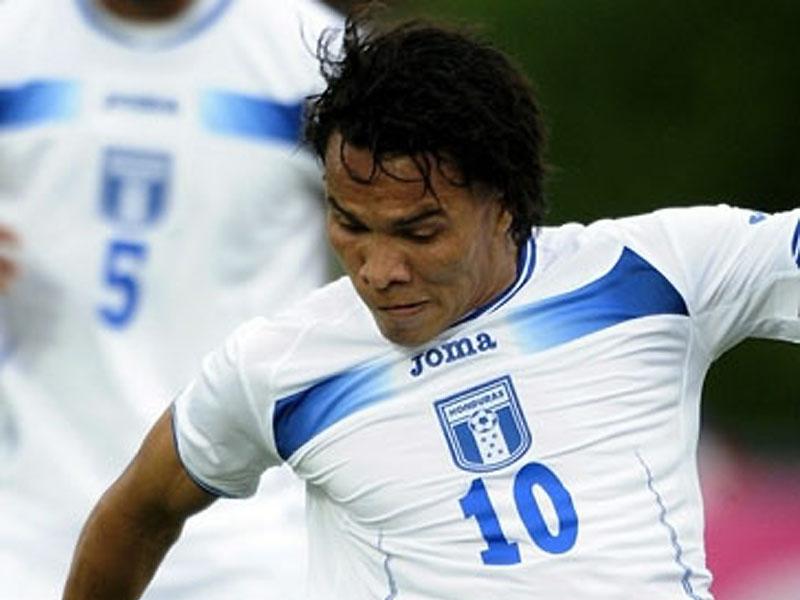 Julio Cesar Leon con la maglia dell'Honduras (da hondurasfutbol.com)