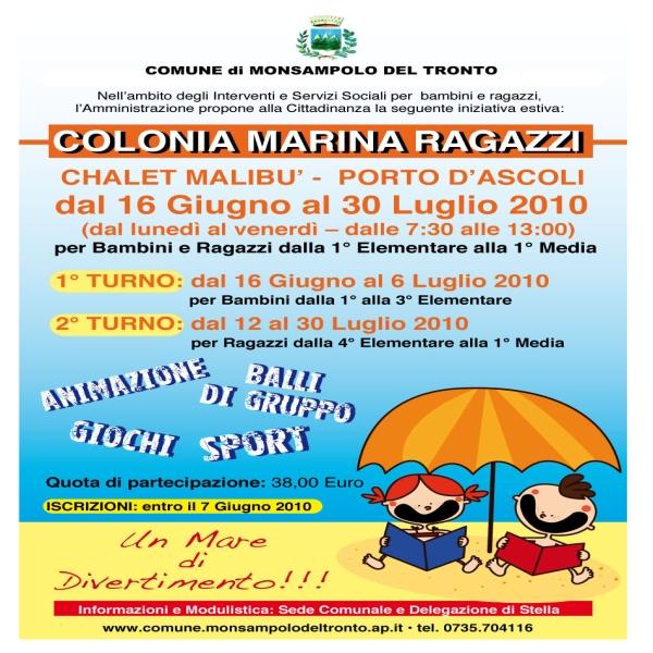 Colonie estive per bambini ed anziani - Riviera Oggi