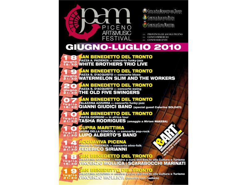 Tutti gli eventi musicali del Piceno Art & Music Festival