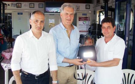 Consegna del defibrillatore alla Lega Navale Sambenedettese da parte della Provincia di Ascoli Piceno.
