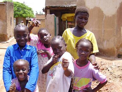 Bambini del Burkina Faso