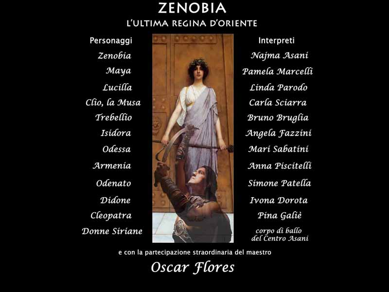 Anche Oscar Flores per Zenobia: l'ultima regina d'Oriente