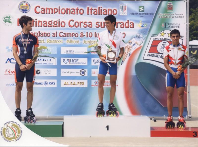 Skating in Line Riviera delle Palme, ai campionati italiani 2010 1° Posto di Davide Amabili e 3°posto Matteo Amabili.