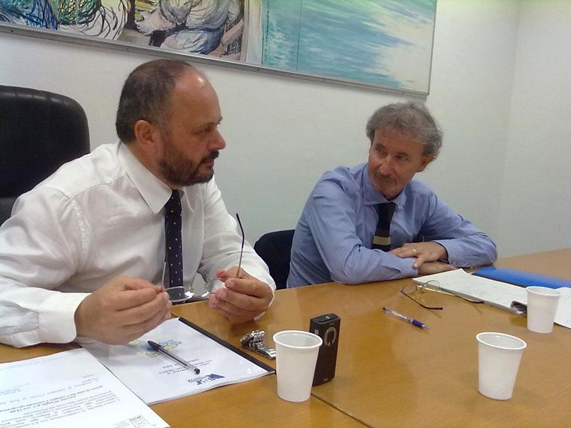 Antonio Maria Novelli a destra del sindaco Giovanni Gaspari