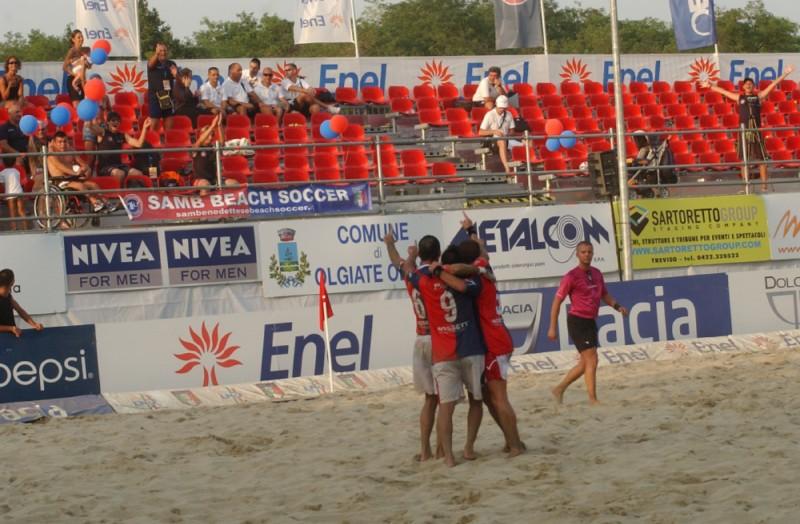 Olgiate Olona, la prima vittoria della Samb Beach Soccer nella serie A