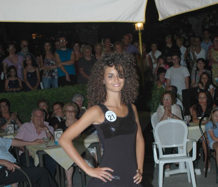 Giulia Di Quinzo durante la sfilata