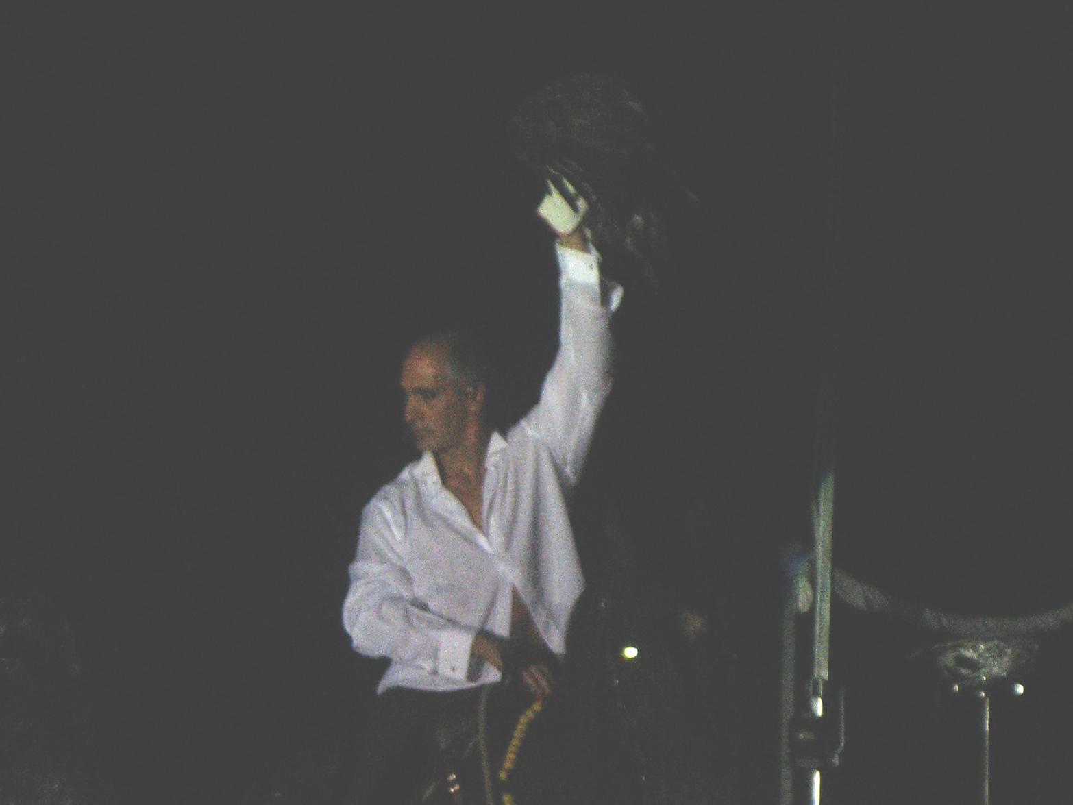 Filippo Olivieri durante la recita in