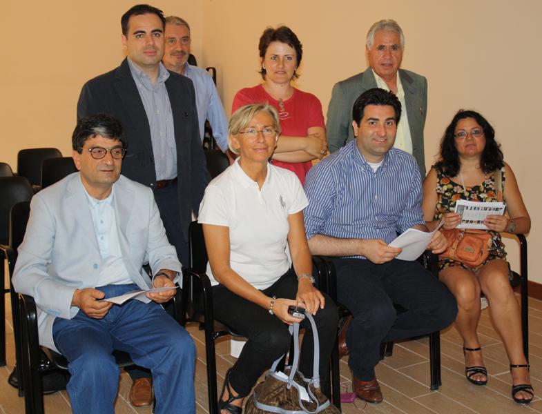 La Direttrice Di Girolami e il Conservatore Papetti insieme ai rappresentanti di alcuni Comuni