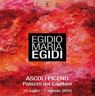Egidio Amria Egidi espone ad AScoli fino al 1 agosto