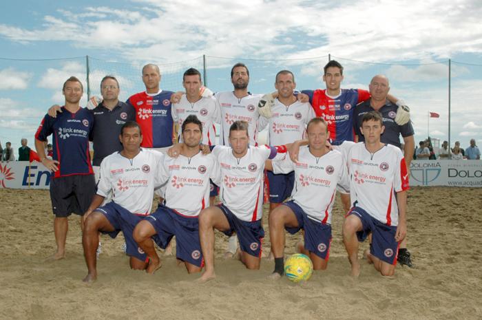 La formazione della Samb Beach Soccer che ha demolito la corazzata Milano