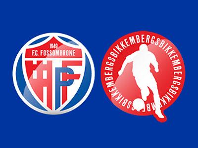 Lo stemma del Fossombrone e il marchio distintivo di Dirk Bikkembergs (da www.fcfossombrone.it)